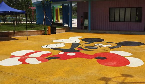 美邦彩色透水路面,用心做孩子喜欢的儿童公园