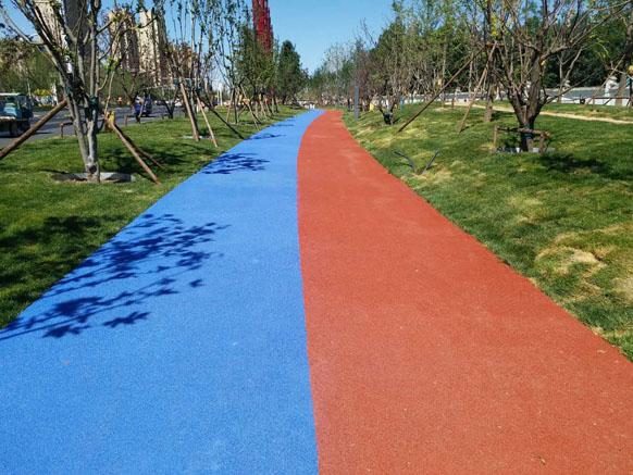 美邦彩色防滑路面之廊坊艺术大道项目