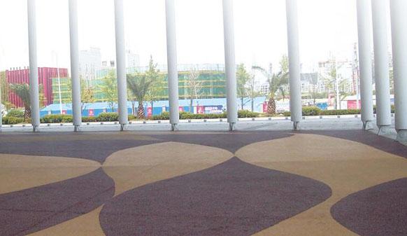 美邦透水路面落地江西省吉安市文化艺术中心