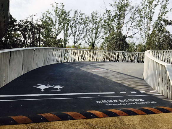 美邦彩色防滑桥面亮相郑州园博园
